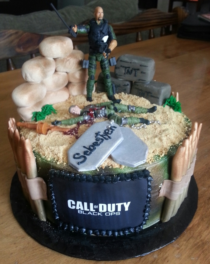 Astounding Call Of Duty Black Ops Cake Decorating Community Cakes We Bake Funny Birthday Cards Online Inifodamsfinfo