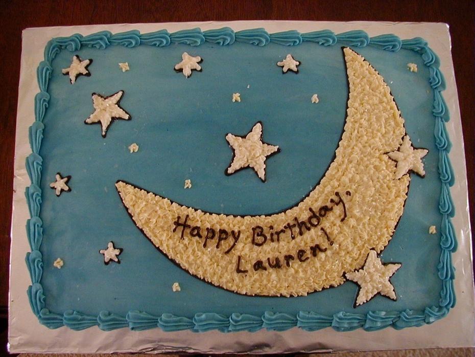 Moon and stars Birthday cake