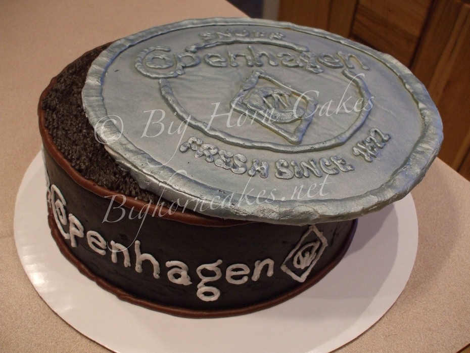 Copenhagen can cake