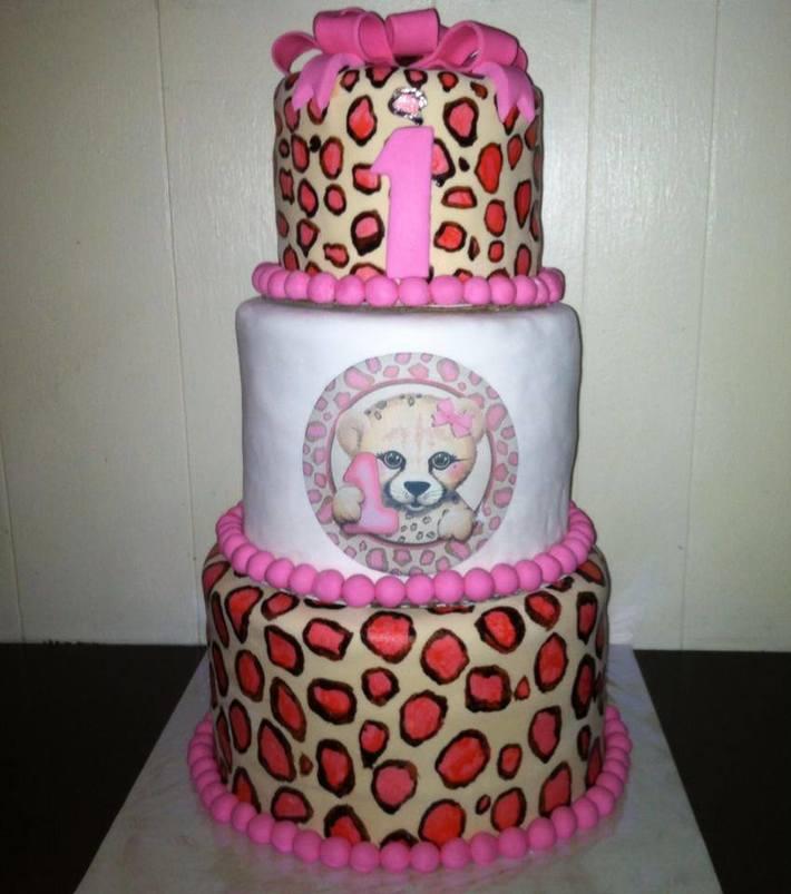 Astounding 1St Birthday Cheetah Cake Cake Decorating Community Cakes We Bake Personalised Birthday Cards Vishlily Jamesorg
