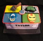 Avengers Cake for Taylor