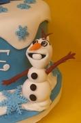 Olaf.....Side of cake