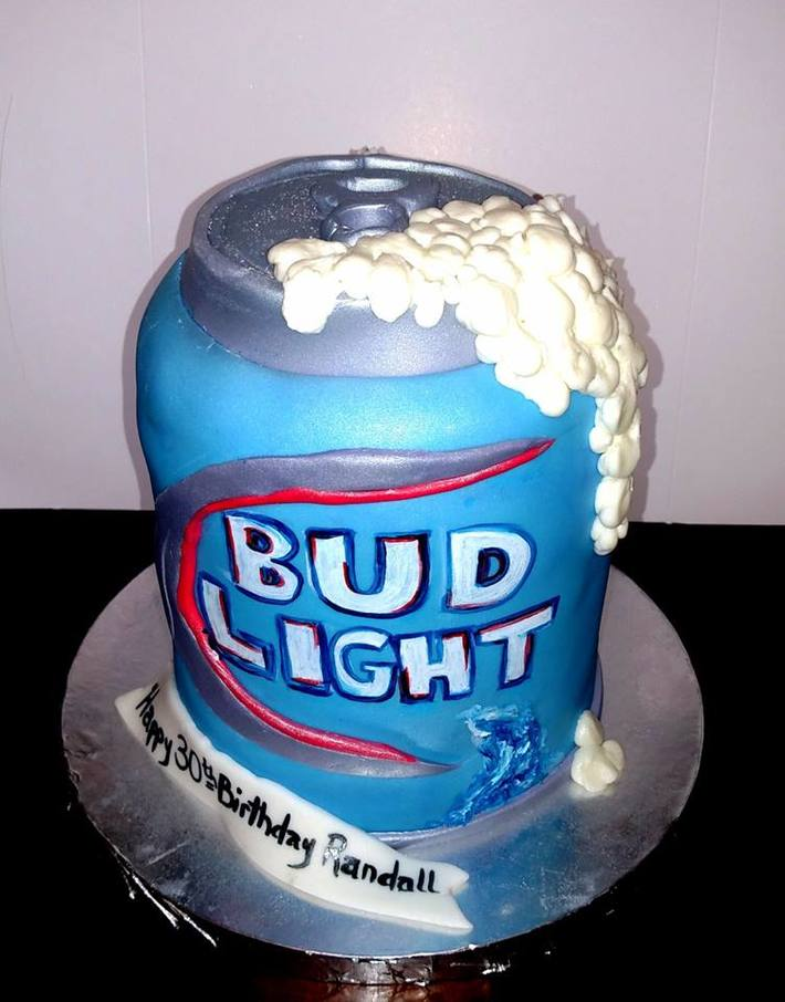 Surprising Bud Light Beer Can Cake Cake Decorating Community Cakes We Bake Personalised Birthday Cards Cominlily Jamesorg