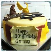 Harry potter themed cake