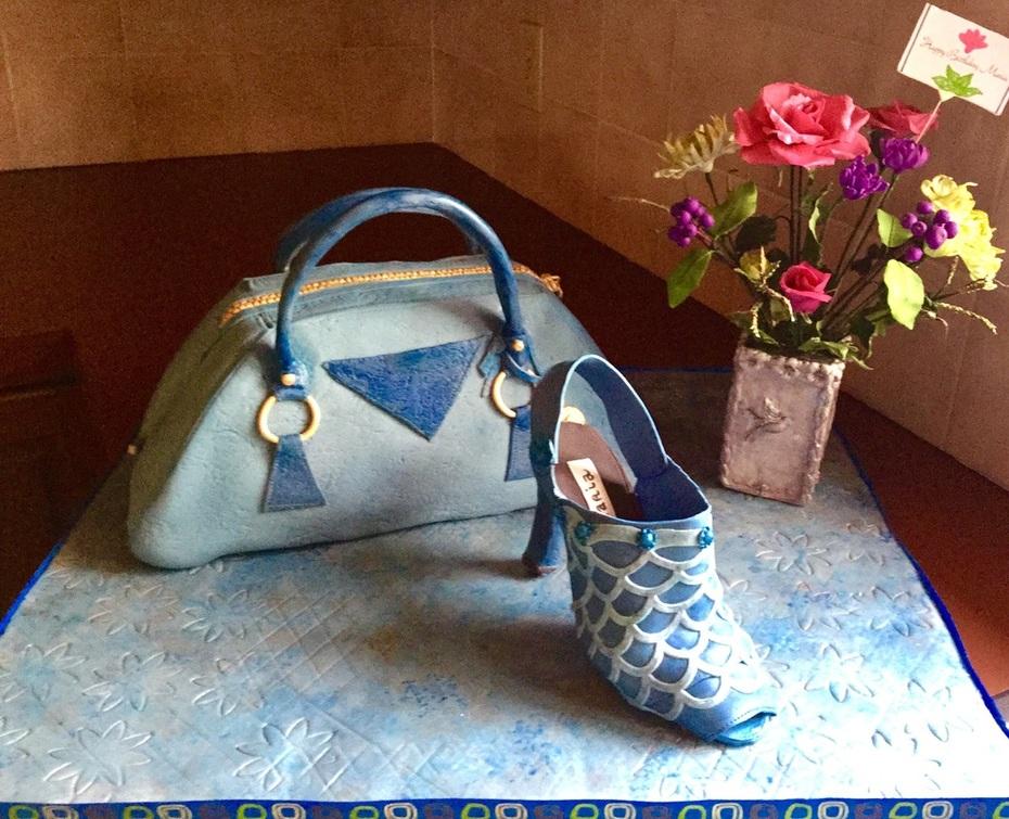Purse & Shoe birthday cake Fashion15f