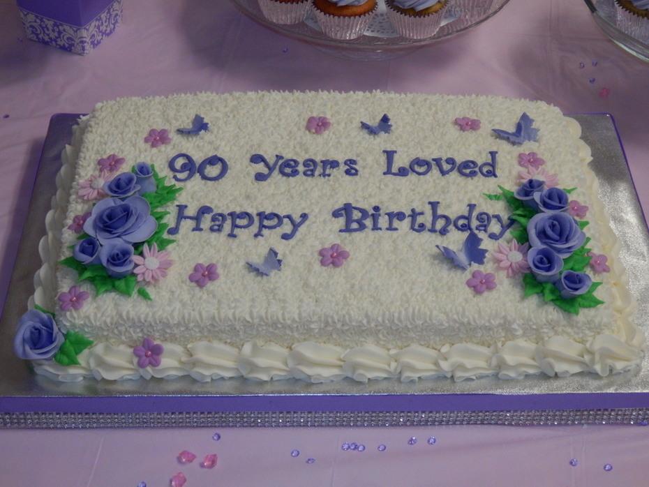 90 Birthday Celebration Cake