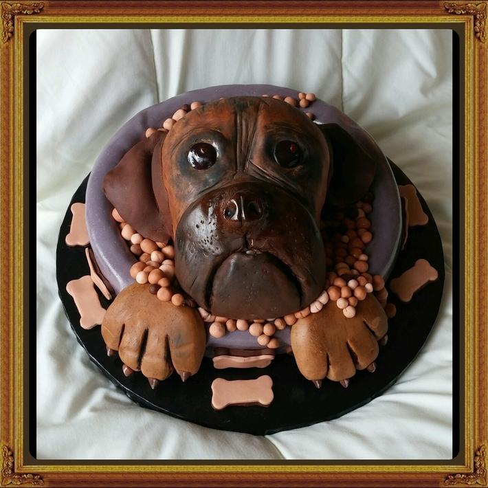 Chris & Megan's birthday cake...Miss Laya
