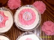 Yankee Bridal shower cupcakes
