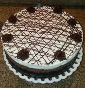 Triple Chocolate Cheese Cake with White Chocolate Ganache