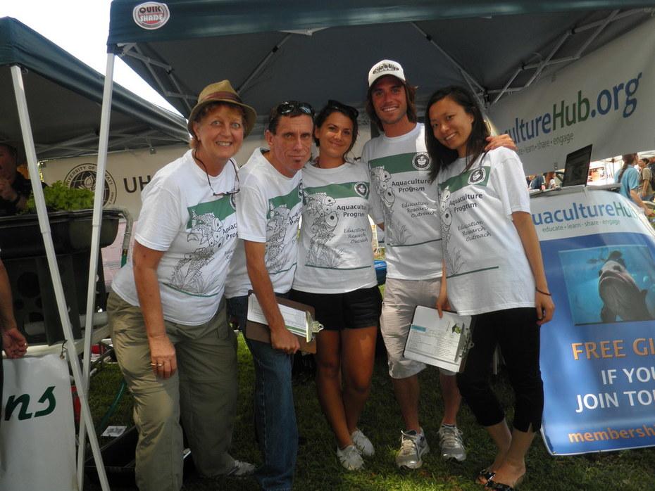 Our AquacultureHUB team on Earth Day