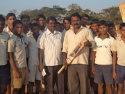 1988 batch Ngapeeraiah& Varaprasd with Kodigenahalli tenth students
