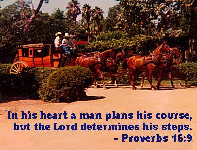 In his heart a man plans his course, but the Lord determines his steps.