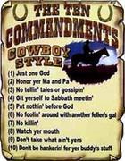 The Cowboys Ten Commandments