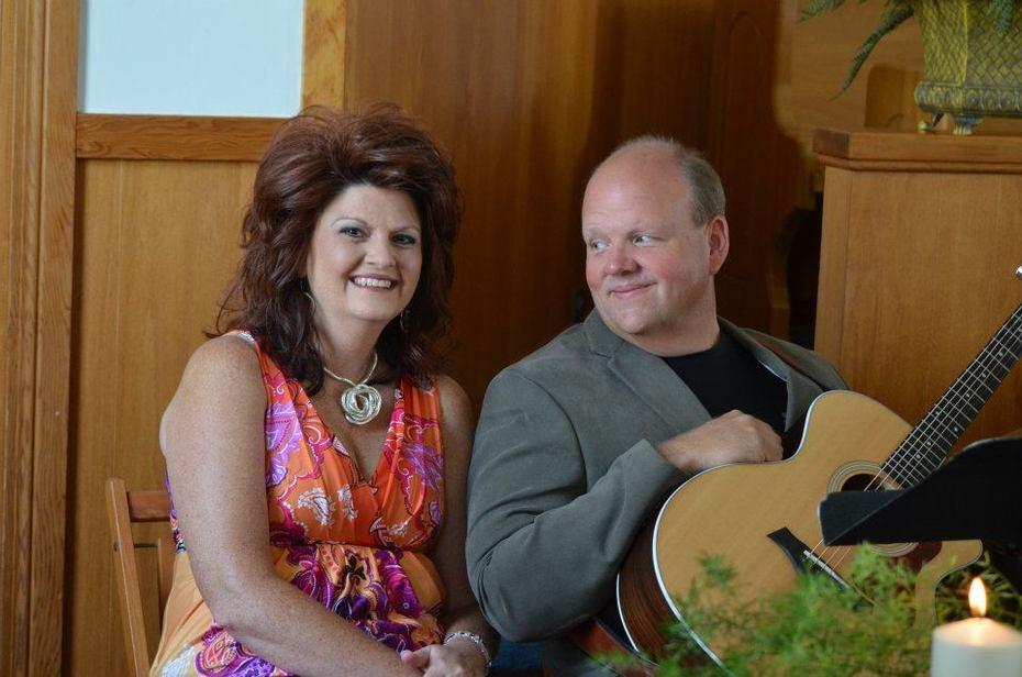 singing at Jesse and Sarah Kay's wedding