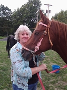 Kathy with Horse at Arise Ministries