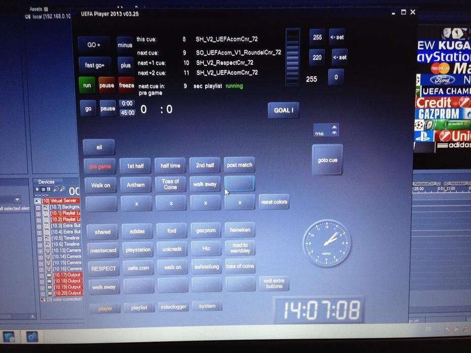 UEFA  Championsleague LED Bord Control Unit