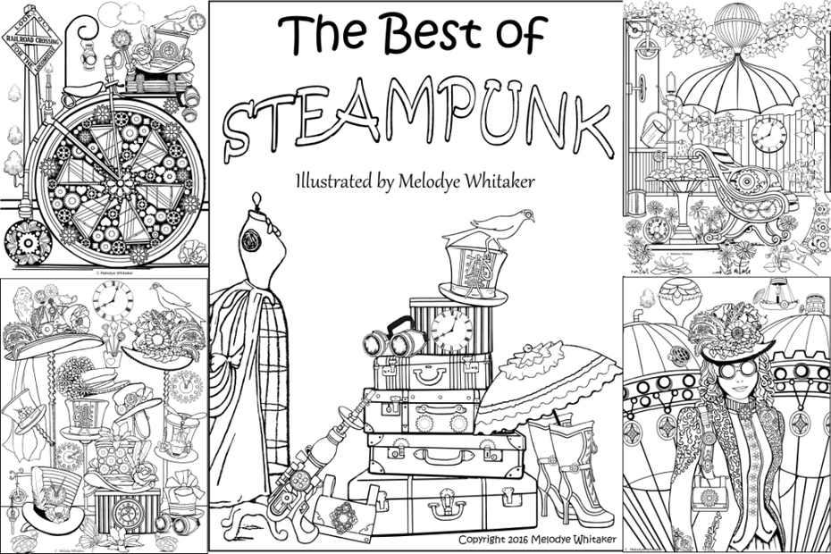 The Best of Steampunk Adult Coloring Book