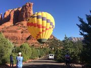 Balloon Landing in Sedona