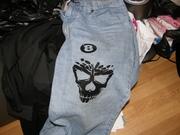 Flock on Jeans