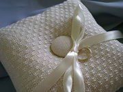 Simple Gifts handwoven lace ring pillow