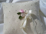 Diamonds & Pearls ring pillow