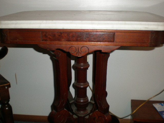 Marble Top Table side shot