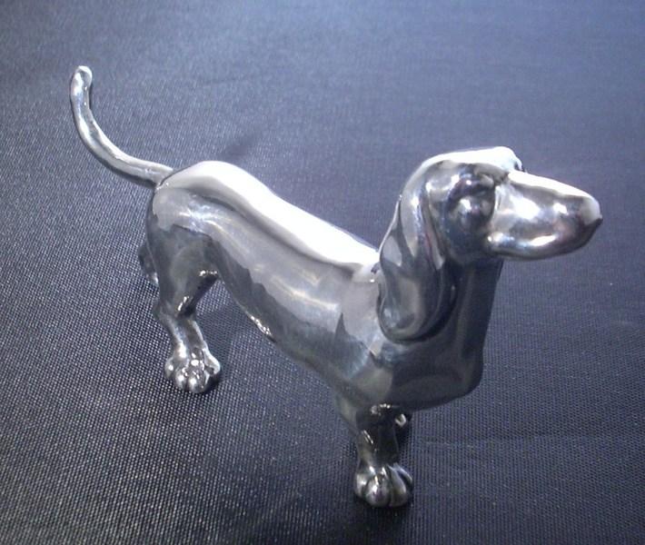 JB & SM Knowles Sterling Dog Figure