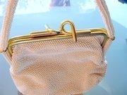 Lumured 50s-60s Corde Bead Purse