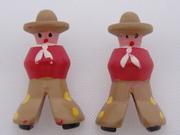Vintage Cowboy Goofies Buttons