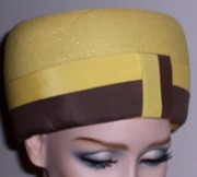 Vintage 1960's Bubble Hat-Pretty Yellow-Iconic Period Topper