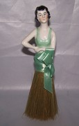 Vintage Pin Cushion Half Doll Dressing Table Brush