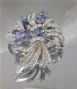 Nolan Miller Blue Bouquet Vintage Brooch