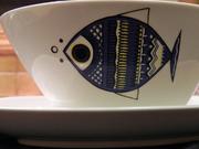 Rare Danish Modern Villeroy Boch Viking Fish Bowl on Etsy by EdibleComplex