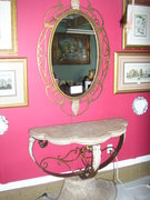 ROMAN STYLE TABLE W/MIRROR WITH CHINESE B&W