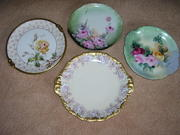 FOUR HAND PAINTED CHARGERS/PLATTERS