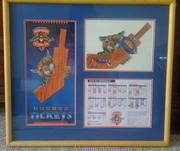 framed Florida Panthers inaugural ticket - 1994