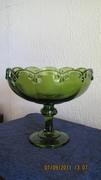 Carnival glass pedestal