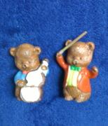miniature ceramic orchestra bears