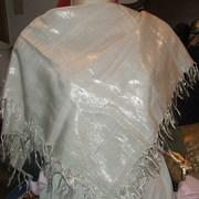white lurex scarf 4