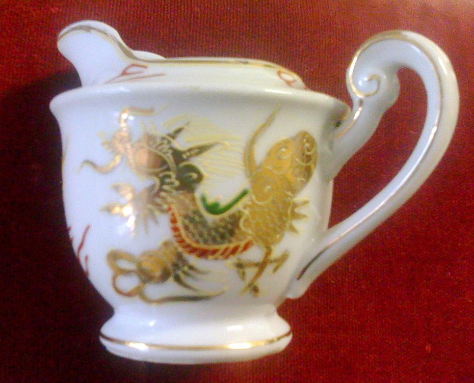 vintage gold dragon china creamer