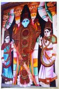 Glass Painting of Lord Vishnu
