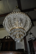 Estate French Empire Style Crystal Chandelier, Draping, Large, Striking