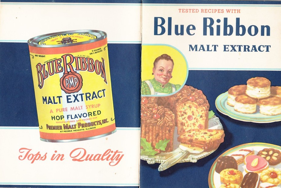 1951 Blue Ribbon Malt Extract advertising Cookbook