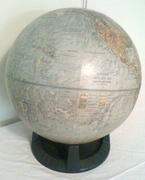 c.1974 Rapogle earth globe