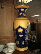 Decorative Porcelain Vase 2 inches High with Cobalt Blue