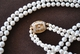Double Strand White Graduating Pearl Necklace with Clasp
