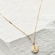 1900's Octagonal Baby Locket Necklace