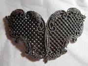 Antique Victorian Cut Steel Butterfly Buckle