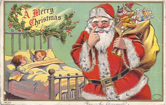 Santa with pointing finger