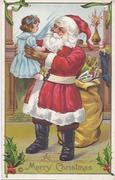 Santa holding girl